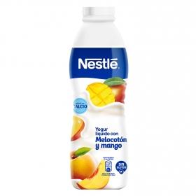Yogur líquido con melocotón y mango Nestlé sin gluten 750 ml.