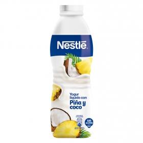 Yogur líquido con piña y coco