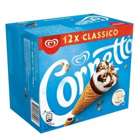 Conos con helado de nata Cornetto 12 ud.