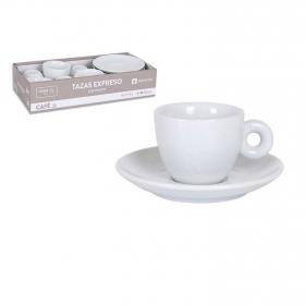 Juego de Café de Porcelana 12pz Blanco