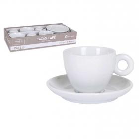 Juego de Café de Porcelana HOME STYLE 12pz - Blanco