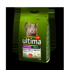 Alimento Gato Seco Adulto Esterilizado Buey
