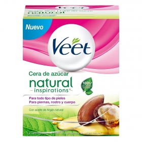 Cera de azúcar Natural Inspirations Veet 250 ml.