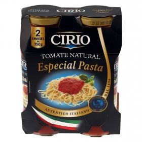 Tomate natural especial pasta Cirio pack de 2 tarros de 350 g.