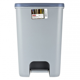 Cubo  de basura de Plástico Essentials 2x20 Litros - Gris