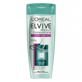 Champú Cuidado Arcilla Extraordinaria para cabello normal o con tendencia a engrasarse L'Oréal-Elvive 370 ml.