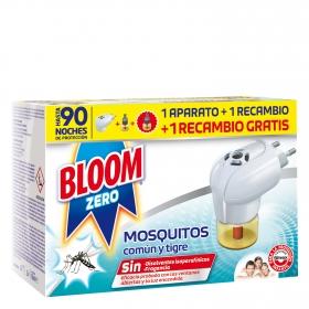 Insecticida eléctrico para mósquitos común y tigre Bloom Zero aparato + recambio