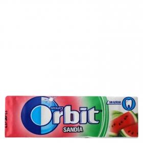 Chicles sabor sandía Orbit 10 ud.