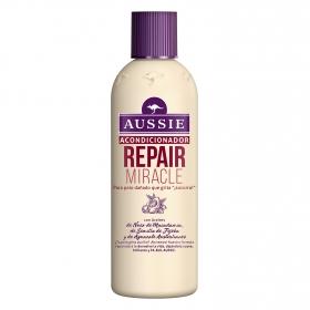 Acondicionador Repair Miracle para pelo seco y dañado Aussie 250 ml.