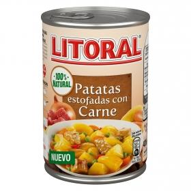 Patatas estofadas con carne Litoral 425 g.