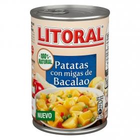 Patatas con migas de bacalao Litoral 425 g.
