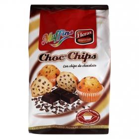 Magdalenas Muffins con pepitas de chocolate