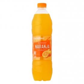 Agua mineral Carrefour con zumo de naranja 1,5 l.