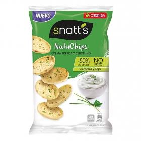 Natuchips crema fresca y cebollino Grefusa Snatt's 85 g.
