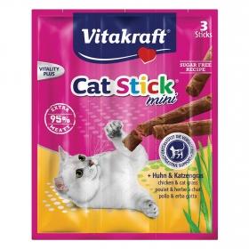 Stick para Gato Vitakraft Mini Pollo con Hierba Gatera 18 gr