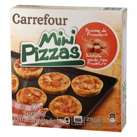 Mini Pizza Frankfurt Carrefour 270 g.
