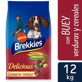 Brekkies Pienso para Perros  Delicious buey 12 Kg