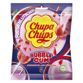 Caramelo con palo y chicle Chupa Chups sin gluten 7 ud.