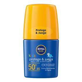 Protector solar para niños FP 50+ roll-on Nivea 50 ml.