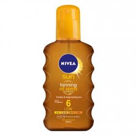 Spray aceite de bronceado solar FP 6