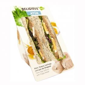 Sandwich de atún, huevo 7y lechuga Delicious Ñaming 200 g.