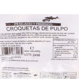 Croquetas de pulpo congeladas Carrefour 400 g.