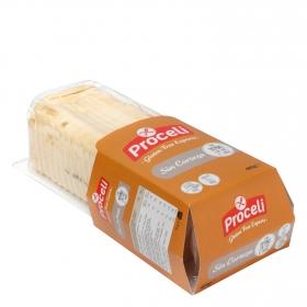 Pan sin corteza Proceli sin gluten 400 g.