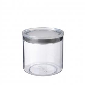 Bote Redondo de Plástico 1 L. Transparente