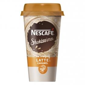 Café latte Nescafé Shakissimo de caramelo 190 ml.