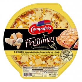 Pizza 5 Quesos masa extra crujiente