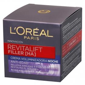 Crema de noche anti-edad Revitalift Filler L'Oréal 50 ml.