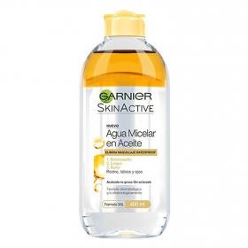 Agua micelar en aceite Garnier 400 ml.