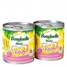 Maíz sin sal y sin azúcar añadido Bonduelle pack de 2 unidades de 140 g.