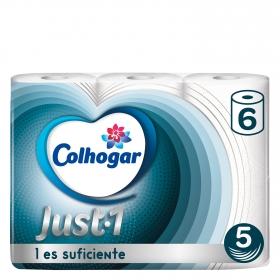 Papel higiénico Just Colhogar 6 rollos.