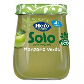 Tarrito de manzana verde desde 4 meses ecológico Hero Baby Solo 120 g.