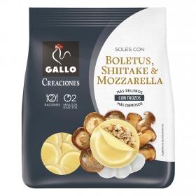 Soles con boletus, shiitake y mozzarella Gallo 250 g.