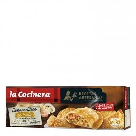 Empandillas de pollo con champiñón y bacón La Cocinera 312 g.