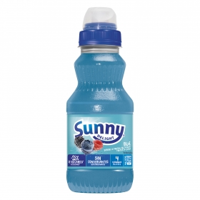 Zumo de frutos del bosque Sunny Delight Blue botella 31 cl.