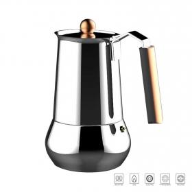 Cafetera 6 tazas acero inoxidable