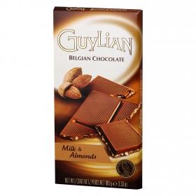 Chocolate belga con leche y almendras