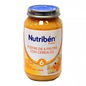 Postre de 6 frutas con cereales Nutribén 250 g.
