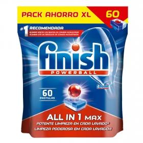Lavavajillas máquina Todo en 1 en pastillas Calgonit Finish 60 ud.