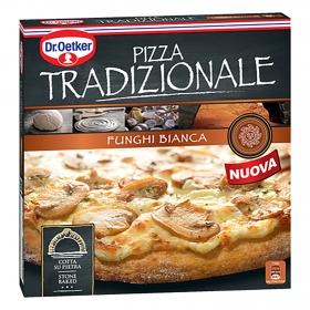 Pizza tradizionale funghi-bianca