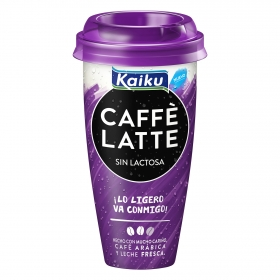 Café latte sin lactosa