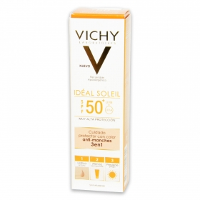 Crema protectora con color anti manchas 3en1 Vichy 50 ml.