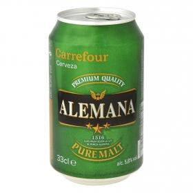 Cerveza Carrefour Alemana pura malta lata 33 cl.