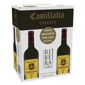 Vino D.O. Ribera del Duero tinto crianza Castillalta pack de 6 botellas de 75 cl.