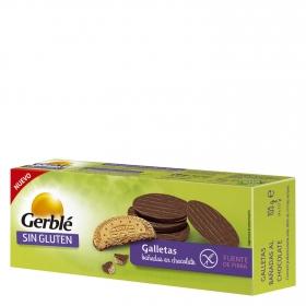 Galletas bañadas en chocolate sin gluten