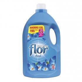 Suavizante concentrado azul Flor 195 lavados.