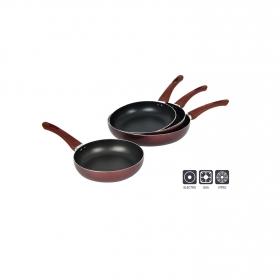 Sartenes de Aluminio 20,24,28,30cm - Rojo